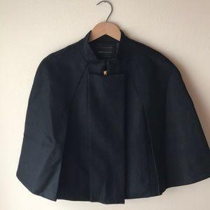 Wool Cape Jacket- BCBGMaxAzria